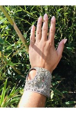 Oxidized Silver Cuff Bracelet