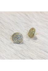 CUSTOM Round Pave Post Earrings