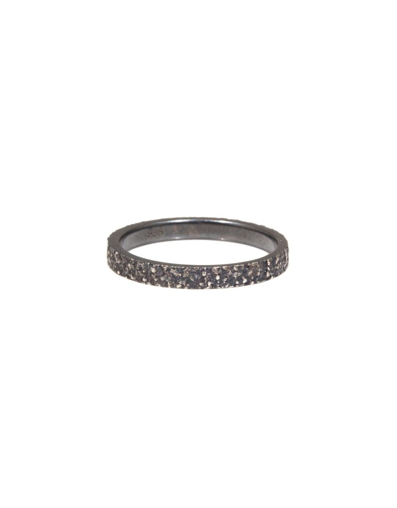 2mm Sand Band in Oxidized Silver