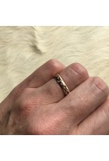 Custom Celestial Ring with Sapphires in 14k Rose Gold