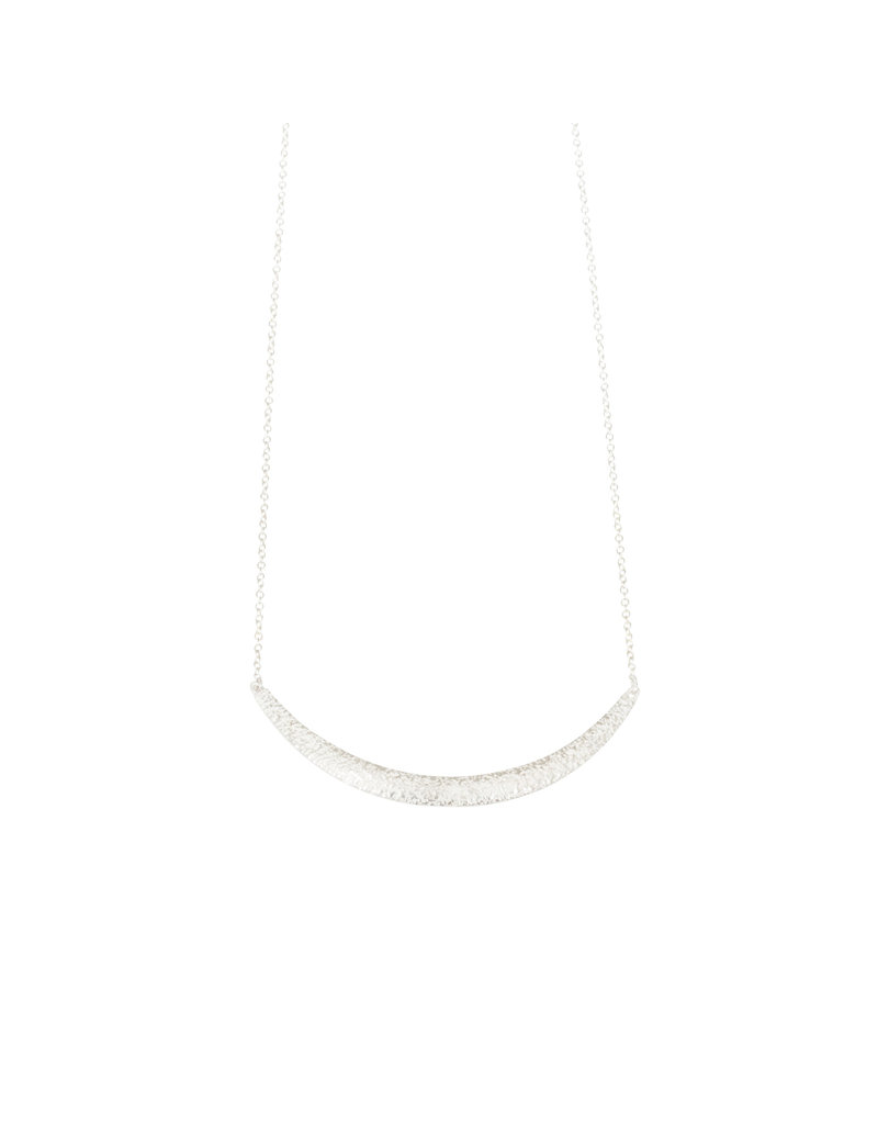 Compressed Sand Bar Necklace in Silver