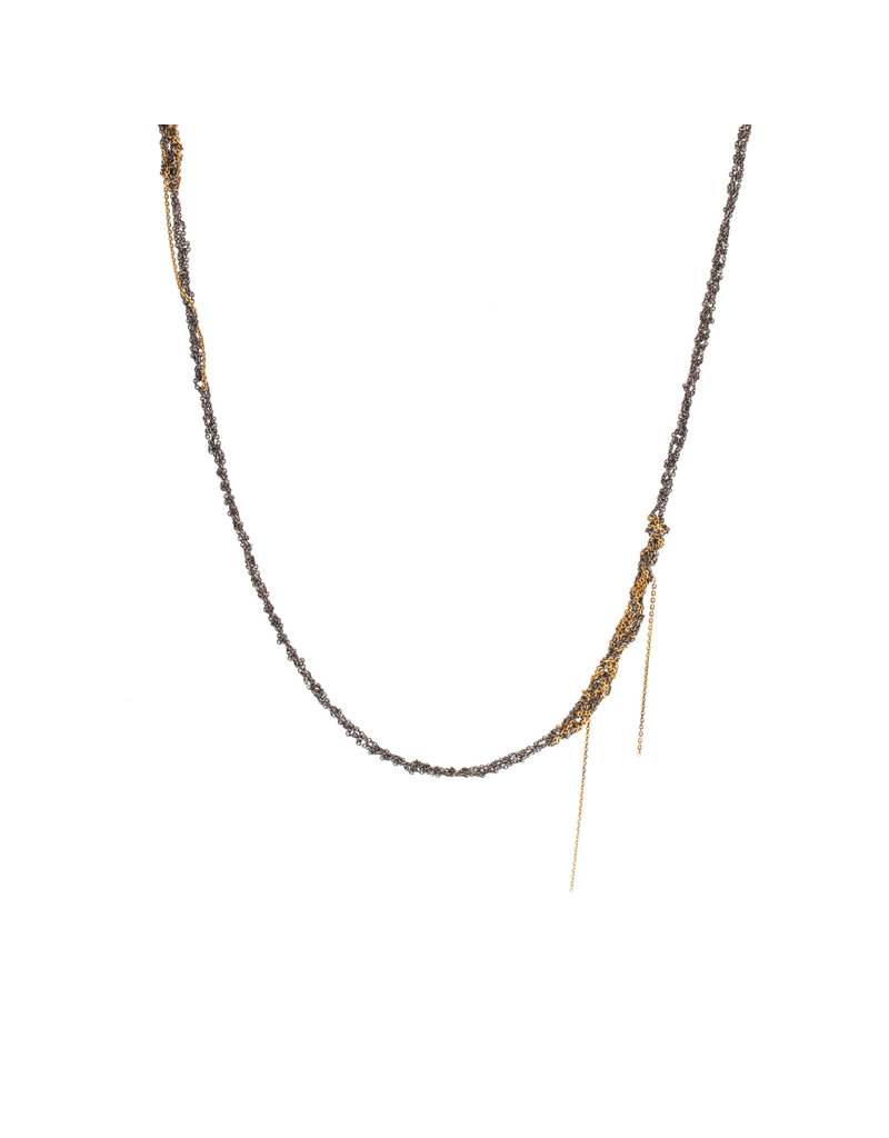 Melded Simple Necklace in Silver & Gold Vermeil- 60""