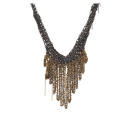 Small Fringe Necklace in Silver & Gold Vermeil