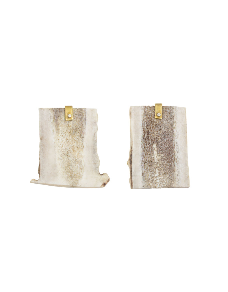 Flat Antler Post Earrings