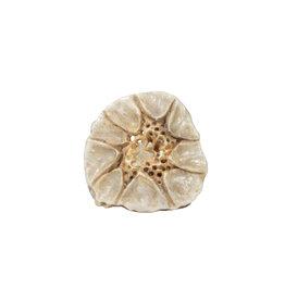 Flower Shape Carved Antler Ring