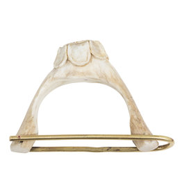 Flower Antler Cuff in Brass