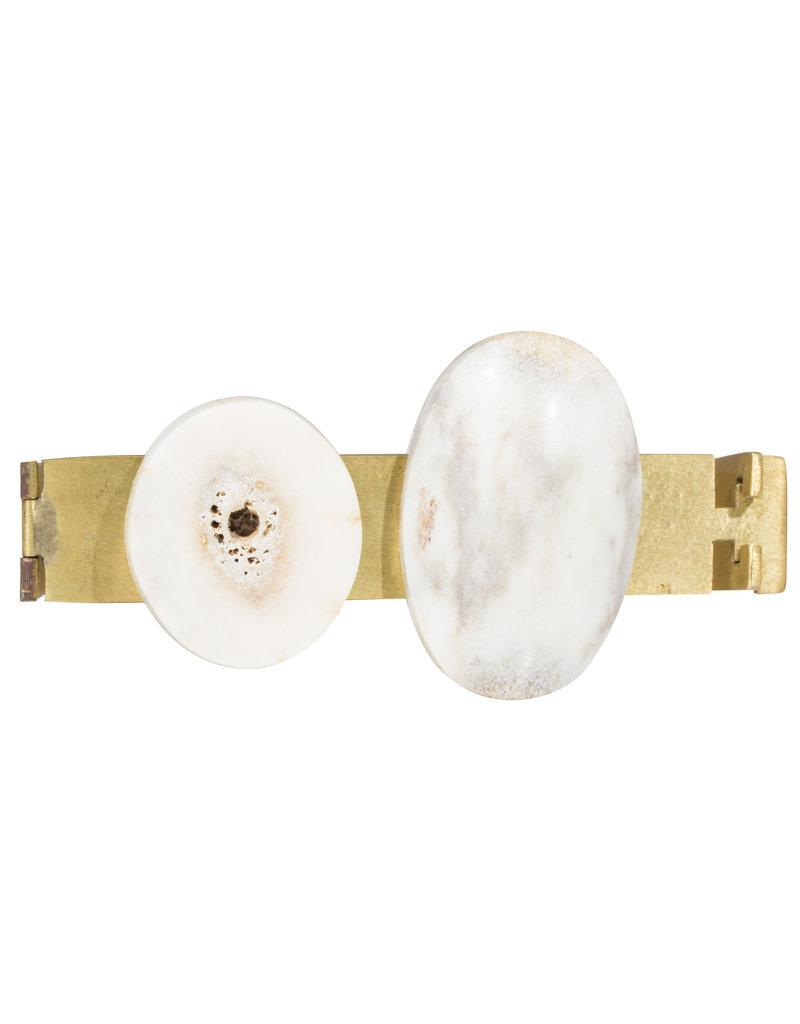 Antler and Brass Bracelet