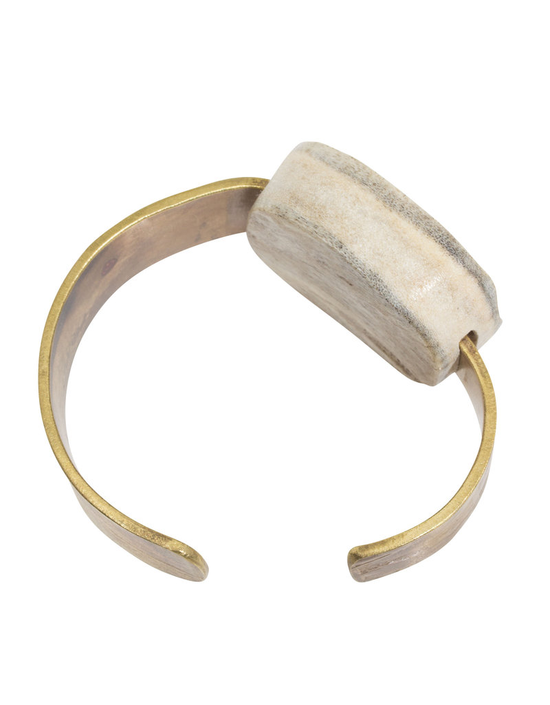 Brass and Moose Antler Cuff