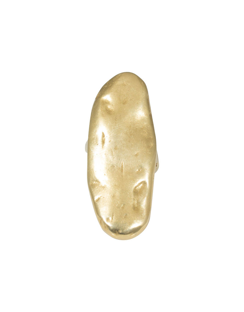Large Oval Ring in Yellow Brass