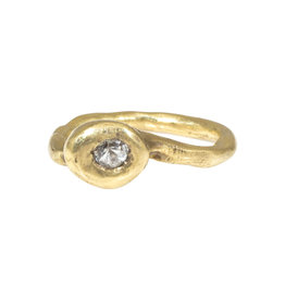 Nan Collymore Brass Ring with White Sapphire