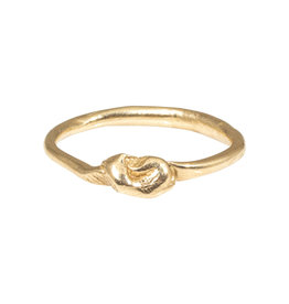 Top Knot Organic Rings in 14k Gold