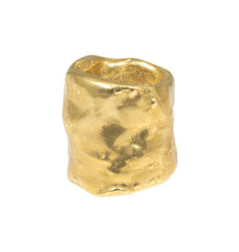 Nan Collymore Large Organic Shape Tube Ring in Brass
