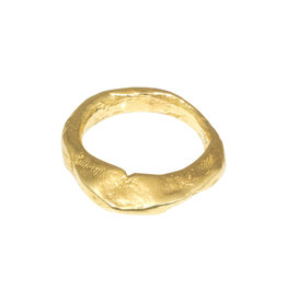Rough Chunky Ring in Brass