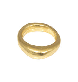 Nan Collymore Smooth Chunky Ring in Brass