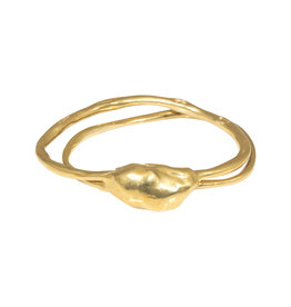 Top Knot Double Bangle Bracelet in Brass