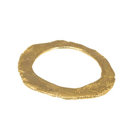 Nan Collymore Flat Edgy Bangle Bracelet in Brass