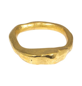 Chunky Bangle Bracelet in Brass