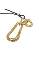 Brass Necklace on Leather Cord