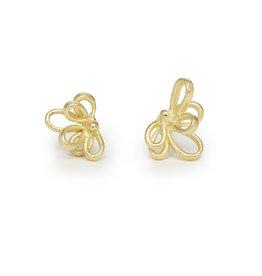 Filigree Post Earrings in 18k Gold