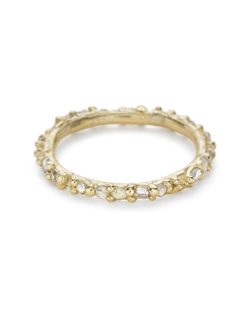 Rose Cut Diamond Eternity Band in 14k Gold