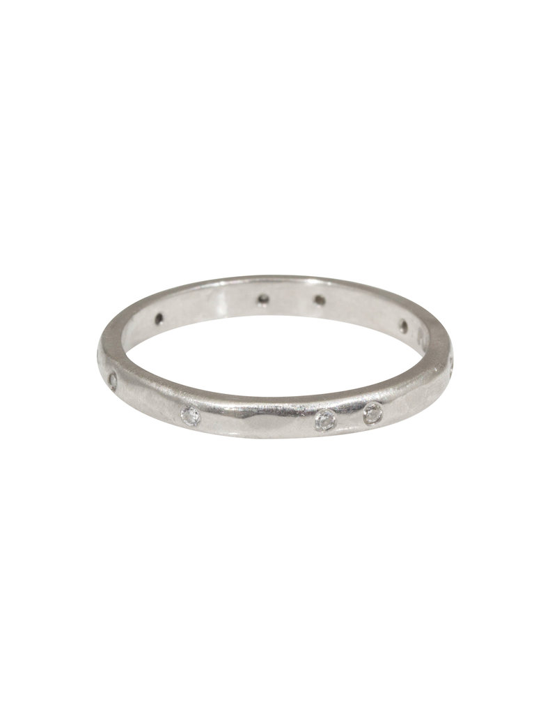 2.25 mm Diamond Band with Modeled Texture Platinum