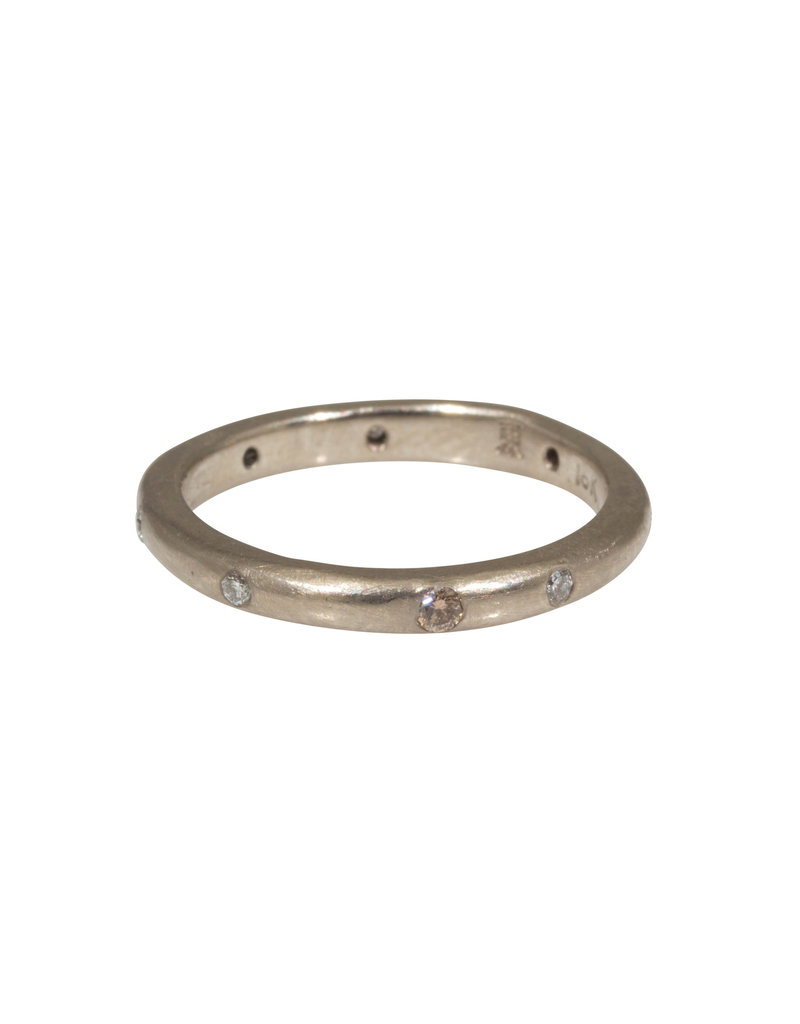 2.5mm Modeled Band in 18k White Gold