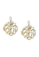 Banksia Medallion Earrings in Yellow Bronze