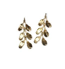 Three-Tiered Dyad Earrings in Yellow Bronze