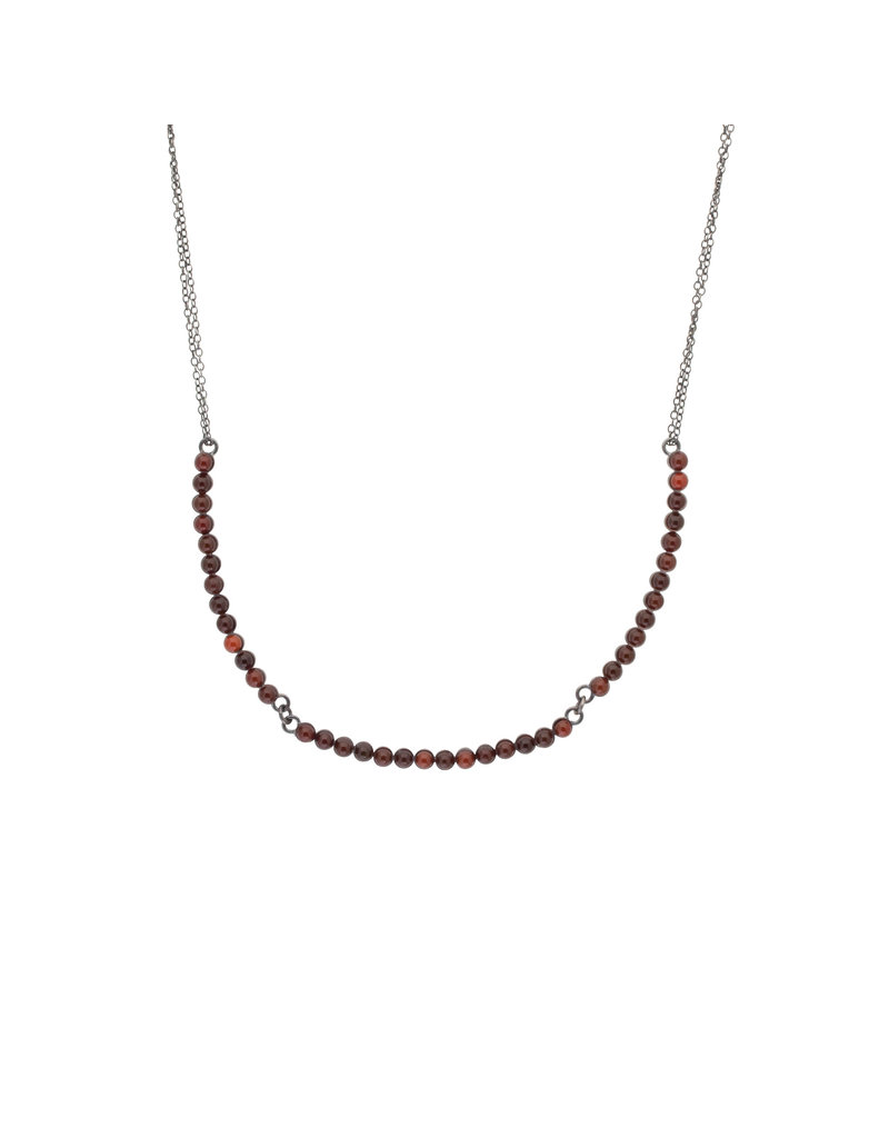 Carnelian Necklace in Oxidized Silver