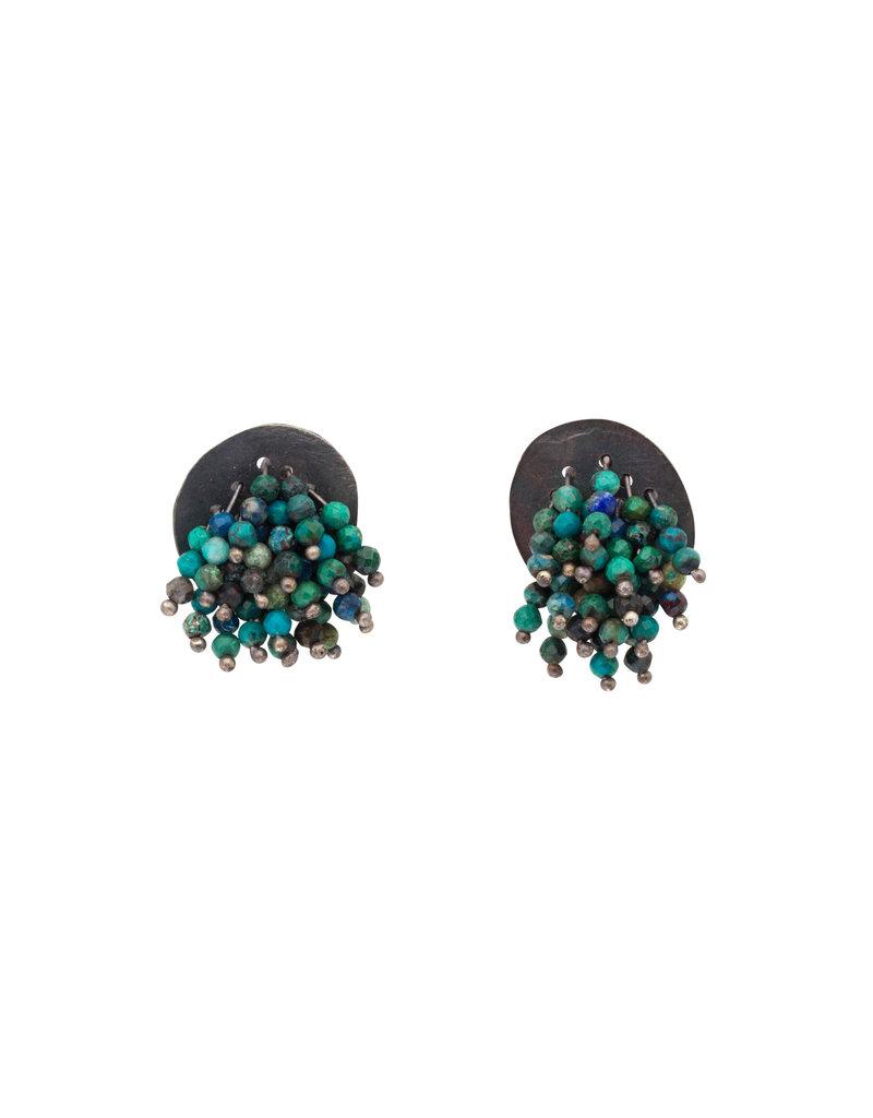 Turquoise Earrings in Oxidized Silver
