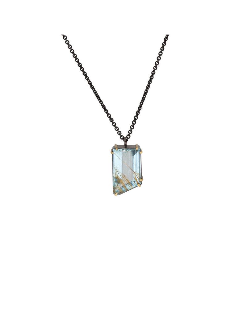 Rutilated Aquamarine Pendant
