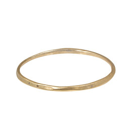 Oval Hammered Twist Bangle in Golden Bronze with Cognac Diamonds
