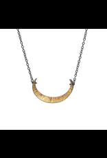 Bimetal Crescent Necklace