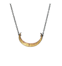 Bimetal Crescent Necklace