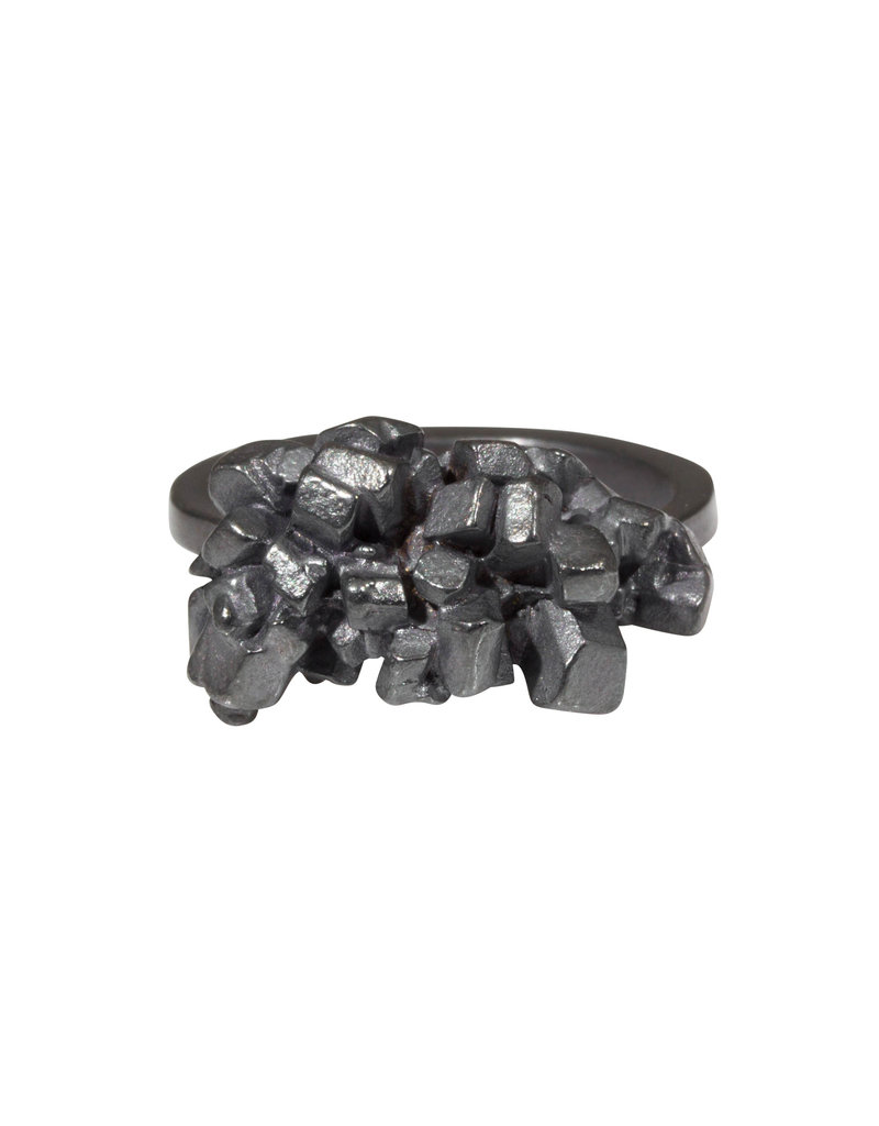Honey Bunch Ring in Oxidized Silver