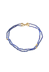 Small Bead Lapis Lazuli Necklace with Banksia Clasp