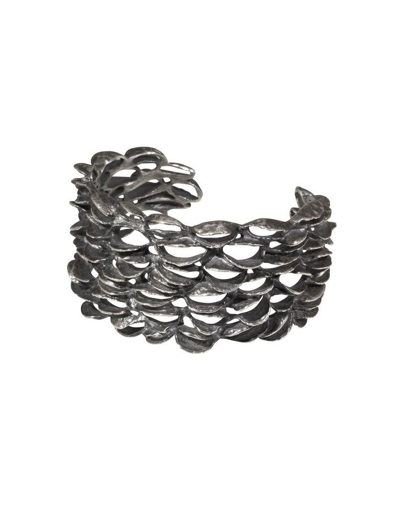 Xlarge Banksia Cuff in Oxidized Silver