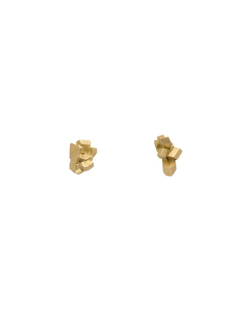 18k Sugar Lump Post Earrings