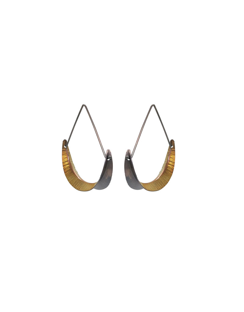 Crescent Hoops in Bimetal - Large
