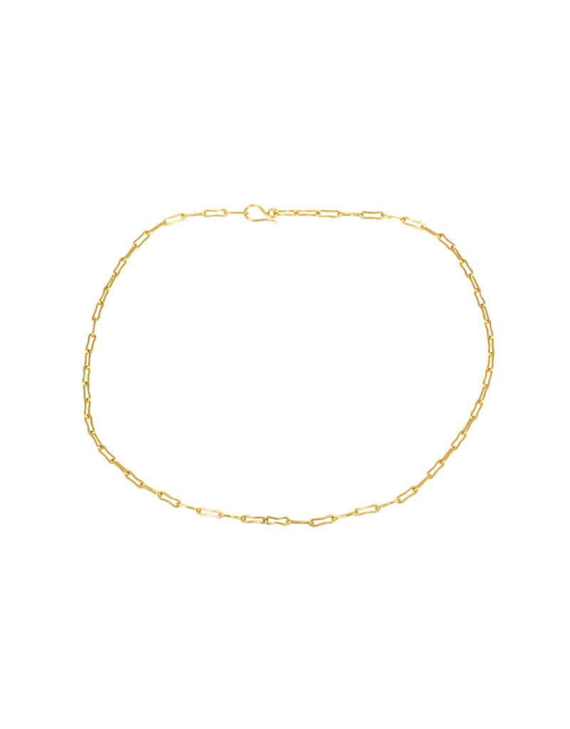 Bone Link Chain in 18k Yellow Gold 20.5 Gauge