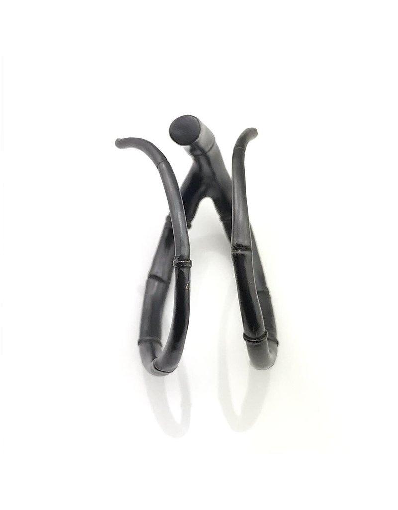 Kai Wolter Double Black Tendril Bangle Bracelet in Dark Bronze