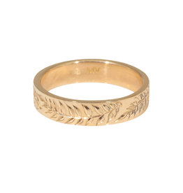 Laurel Ring Band in 14k Gold