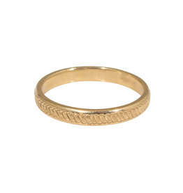 Endless Rope Ring Band in 14k Gold