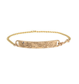Infinity Snake Bracelet in 14k Gold with White Diamond