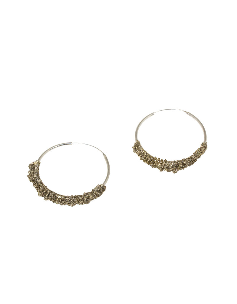Circlet Hoops Small in Silver & Gold Vermeil