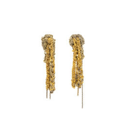 2-Tone Drip Earrings in Silver & Gold Vermeil