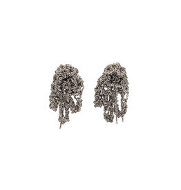 Fringe Earrings in Oxidized Silver