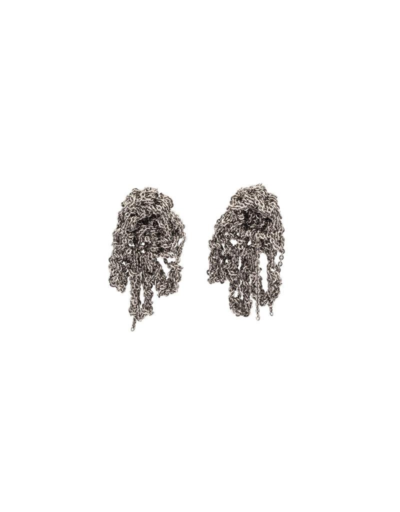 Fringe Earrings in Oxidized Silver