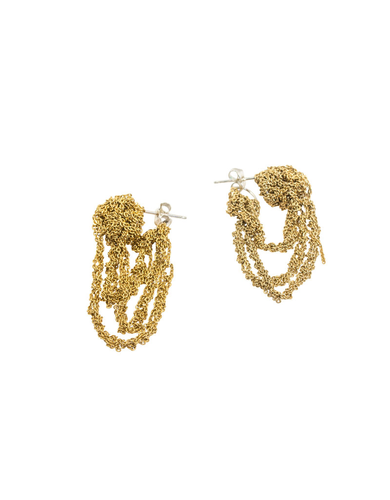 Tiered Cuff Earrings in Silver & Gold Vermeil