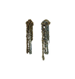 Drip Earrings in Oxidized Silver & Stainless Steel